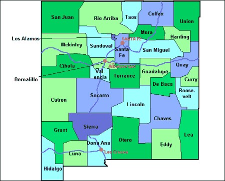 Harding County New Mexico Map From Onlyglobes Com