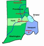 Laminated Map of Kent County Rhode Island