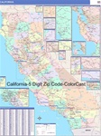 California State Zip Code Map with Wooden Rails