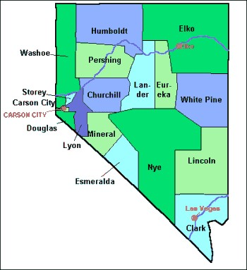 Elko County Nevada Map From Onlyglobes Com