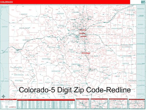 Colorado Zip Code Map with Wooden Rails from OnlyGlobes.com on