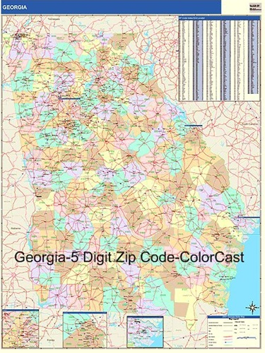 Georgia Zip Code Map from OnlyGlobes.com