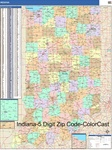 Indiana State Zip Code Map with Wooden Rails