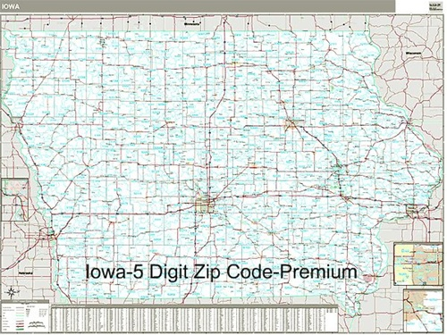 Free Zip Code Map By County.Iowa Zip Code Map Laminated