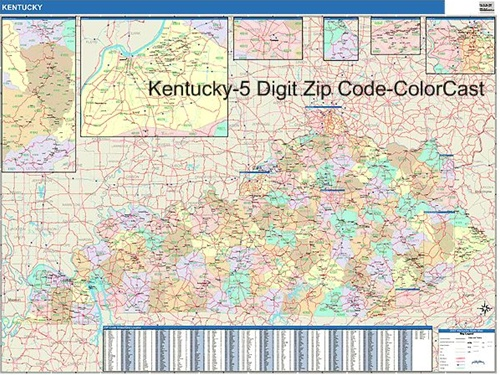 Kentucky Zip Code Map from OnlyGlobescom