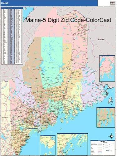 zip code map of maine Maine Zip Code Map From Onlyglobes Com zip code map of maine