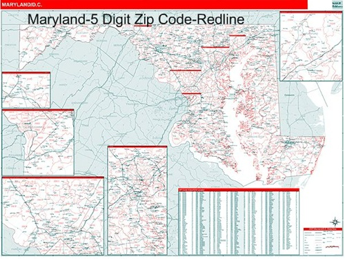 maryland zip code map from onlyglobes
