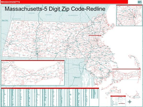 Massachusetts Zip Code Map With Wooden Rails From Onlyglobes Com