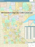 Minnesota State Zip Code Map with Wooden Rails