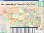 Nebraska State Zip Code Map with Wooden Rails