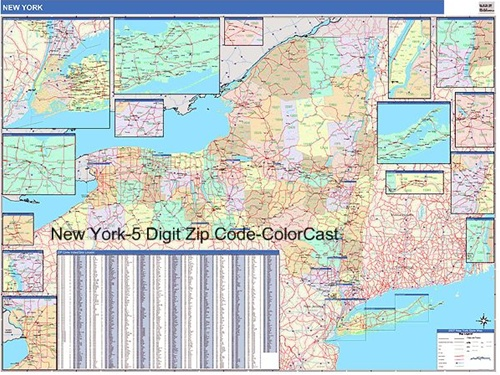 New York Zip Code Map From OnlyGlobes