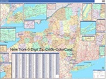 New York State Zip Code Map with Wooden Rails