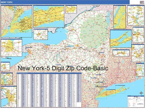 New York Zip Code Map From Onlyglobes Com