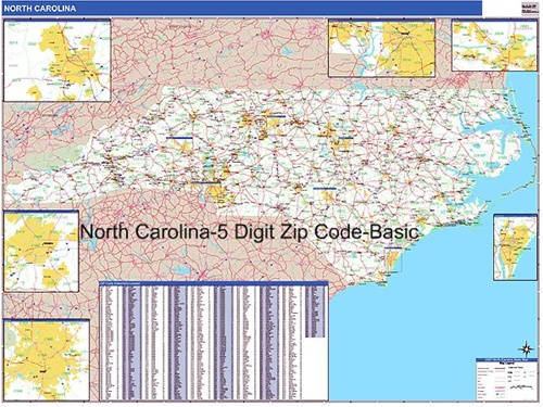 north carolina zip code map from onlyglobes