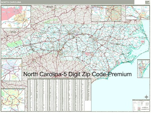 North Carolina Zip Code Map From Onlyglobes Com