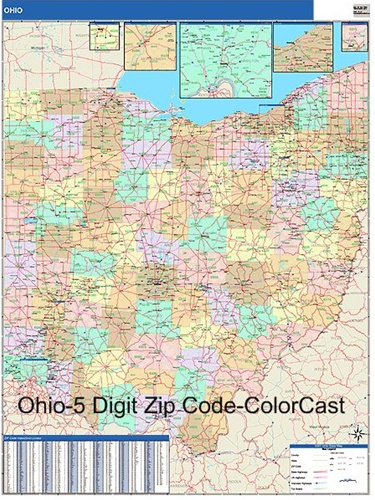 Ohio Zip Code Map from OnlyGlobes.com