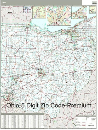Ohio Zip Code Map With Wooden Rails From Onlyglobes Com