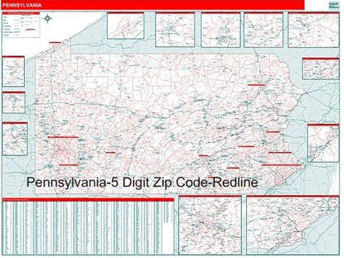 Pa Zip Code Map