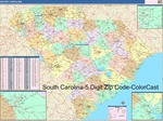 South Carolina State Zip Code Map
