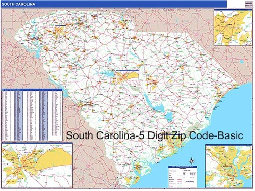 South Carolina Zip Code Map From Onlyglobes Com