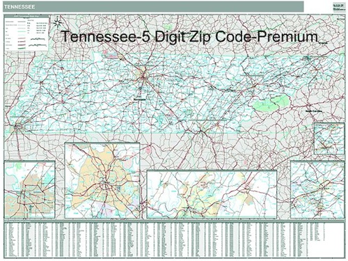 tennessee zip code map from onlyglobes