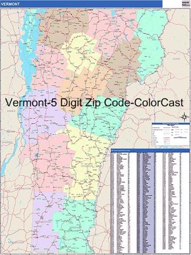 Vermont Zip Code Map Vermont Zip Code Map from OnlyGlobes.com