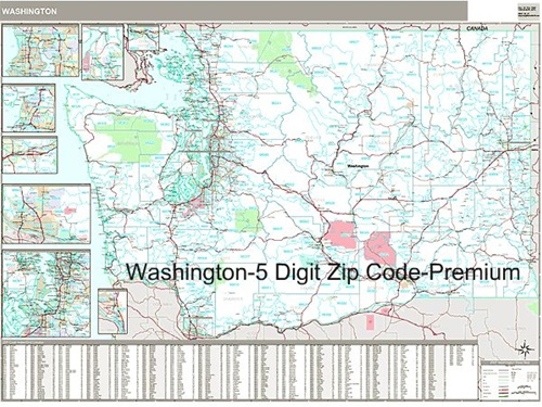 washington zip code map from onlyglobes
