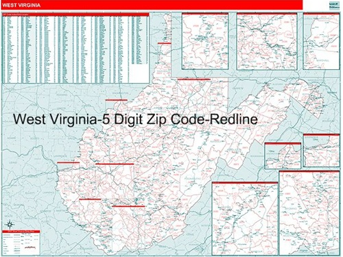 Zip Code Map Of Virginia.West Virginia Zip Code Map From Onlyglobes Com