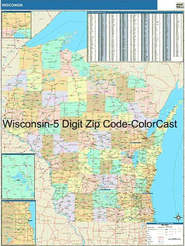 Wisconsin Zip Code Map From Onlyglobes Com