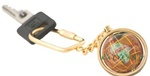 Copper Amber Gemstone Key chain