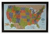 Lightravels Blue Illuminated USA Explorer Map