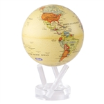 Rotating 6 Inch Antique Globe from Mova