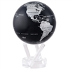 Silver and Black Rotating Globe from Mova