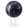 Silver and Black Constellations Rotating Globe from Mova