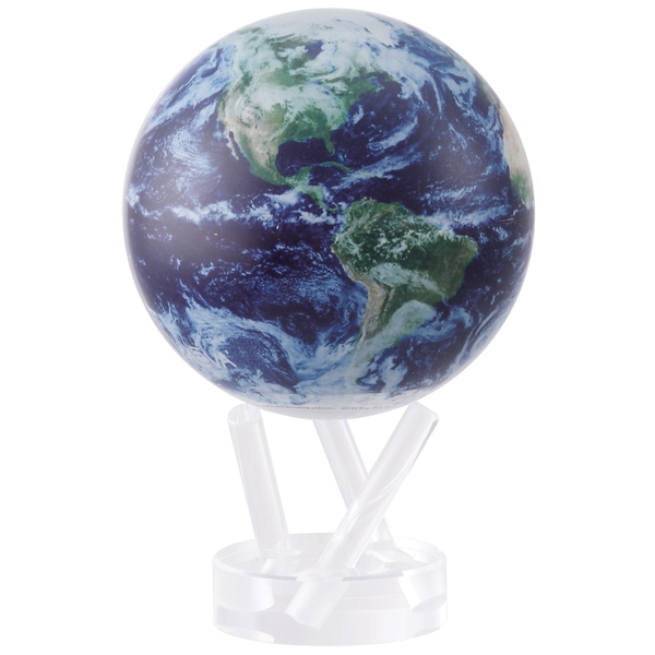 mova rotating 4 5 inch globe satellite view with cloud cover