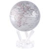 Rotating 6 Inch Silver Globe from Mova