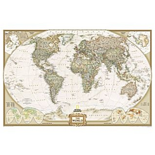 National geographic earth tone world political map ships free alternative views gumiabroncs Gallery