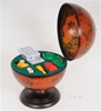 8.5 Inch Tabletop Globe - with Poker Set