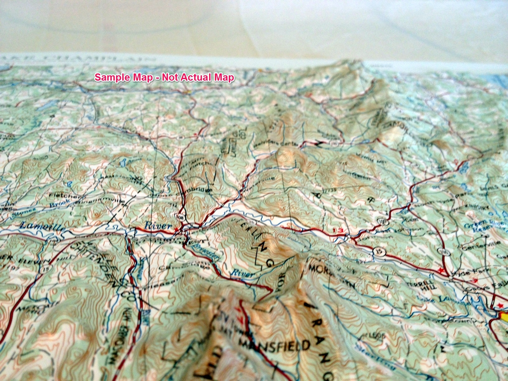 Ukiah Raised Relief Map From OnlyGlobescom - Raised relief map