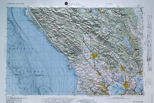 Raised Relief World Map.Santa Rosa Raised Relief Map From Onlyglobes Com
