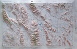 Raised Relief Map of Death Valley Bumpy Maps
