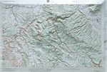 Raised Relief Map of Moab, Bumpy Maps