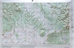 Raised Relief Map of Cortez Bumpy Maps
