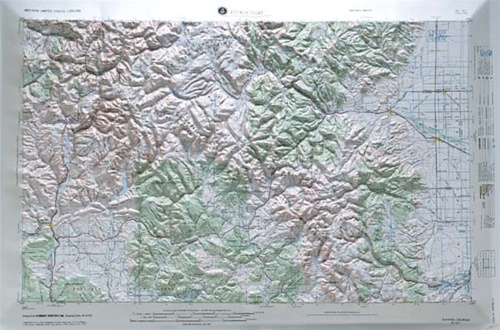 Durango Raised Relief Map from OnlyGlobescom