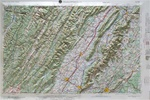 Raised Relief Map of Charlottesville Bumpy Maps