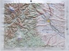 Raised Relief Map of Yakima Washington, Bumpy Maps
