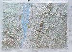 Raised Relief Map of Lake Champlain Bumpy Maps
