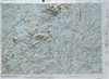Raised Relief Map of Millinocket Maine, Bumpy Maps