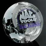 3 1/8 Inch Clipped Globe Award