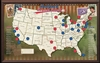 USA Baseball Push Pin Map - Framed and Personalized